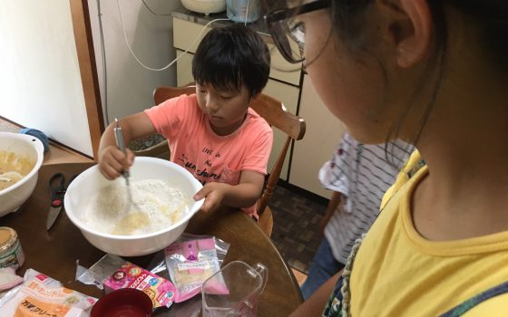 漢字テスト・パンケーキ作り